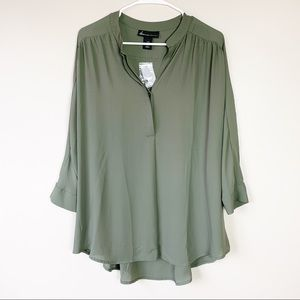 Lane Bryant Army Green Blouse - 14/16